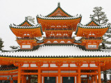 Main Heian Shrine Building under Snow Photographic Print by Frank Carter