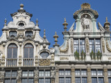 Ornate Gables of Historic Guildhalls on Grand Place Photographic Print by Craig Pershouse