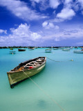 Fishing Boats Anchored in Lagoon Photographic Print by Olivier Cirendini