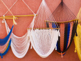 Hammocks on Wall of Souvenir Stand Photographic Print by Guylain Doyle