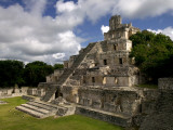 Ruins of Edificio De Cinco Pisos at Mayan Archaeological Site Photographic Print by Doug McKinlay