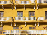 Balconied Houses on Plaza De La Coches Photographic Print by Jane Sweeney