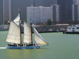 Skow Schooner &#39;Alma&#39; under Full Sail Passing by Waterfront Photographic Print by Emily Riddell