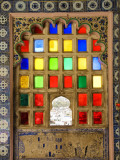 Coloured Window Detail in City Palace Photographic Print by Diana Mayfield
