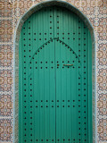Elaborate Doorway in Old City of Asilah Photographic Print by Kimberley Coole