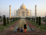 Visitors Taking Photos of Taj Mahal Photographic Print by Johnny Haglund
