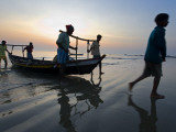 Fishermen Coming in from the Sea, after Fishing Through the Night Photographic Print by Johnny Haglund