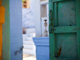 Green Door and Blue Walls Photographic Print by Huw Jones