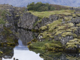 Oxara River and Volcanic Landscape, Pingvellir National Park Photographic Print by Holger Leue