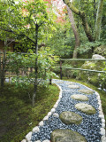 Stone Paved Walkway, Arishiyama District Photographic Print by Gerard Walker
