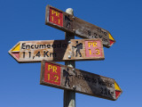 Walking Track Distance Signs Photographic Print by Holger Leue