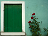 Detail of Window Shutter of House Photographic Print by Guylain Doyle