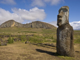 Rano Raraku Moai Quarry Photographic Print by John Elk III