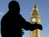 Nelson Mandela Statue and Big Ben, Parliament Square Photographic Print by Doug McKinlay