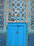 Blue Door, Shrine of Hazrat Ali Photographic Print by Jane Sweeney
