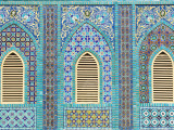 Tiling around Shuttered Windows, Shrine of Hazrat Ali Photographic Print by Jane Sweeney