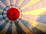 Inside an Inflating Hot-Air Balloon at Dawn Photographic Print by Dallas Stribley