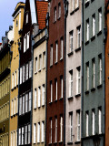 Colourful Buildings in Old Town Photographic Print by Manfred Hofer