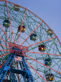 Historic Wonder Wheel Fairground, Coney Island Fotodruck von Christopher Groenhout