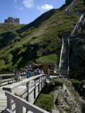 Steep Wooden Steps Up to Tintagel Castle. Photographic Print by Doug McKinlay
