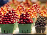 Cherry and Blackberry Punnets at Granville Island Public Market on Johnston St, Granville Island Photographic Print by Christopher Herwig