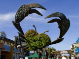 Crab Art on Pier 39 Photographic Print by Christina Lease