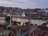 Praca Dom Pedro Iv (Rossio Square) at Dusk Photographic Print by Holger Leue