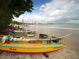 Fishing Boats, Praia Do Ponta Negra Beach Photographie par Huw Jones