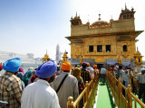 Crowds Waiting to Enter Golden Temple Photographic Print by Michael Gebicki