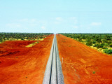 Alice Springs to Darwin Railway Line Photographic Print by John Banagan