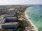 Aerial of Palm Beach and High-Rise Hotels and Resorts Photographic Print by Holger Leue
