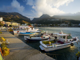 Boats Moored in Plakias Harbour Photographic Print by Gareth McCormack