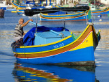 Fishing Boat in Marsaxlokk Harbour Photographic Print by Jean-pierre Lescourret