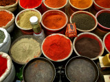 Spices for Sale at Illegal Market Photographic Print by Doug McKinlay