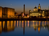 Albert Dock and the 'Three Graces' Photographic Print by Glenn Beanland