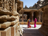 Women Walking Through Jain Temple Photographic Print by Johnny Haglund