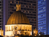 Dome of the Legislative Council Building (Old Supreme Court), at Night Photographic Print by Greg Elms