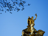 Golden Statue on Corner of Central Park Near Columbus Circle Photographic Print by Michelle Bennett