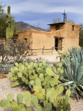 Adobe Mission, Degrazia Gallery in the Sun Photographie par Richard Cummins