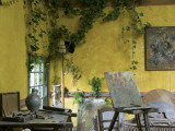 Artists' Atelier in the Gardens of the Ancien Hotel Baudy Photographic Print by Barbara Van Zanten