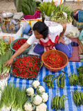 Truck Farmer with Her Produce at Central Wet Market Photographic Print by Ray Laskowitz