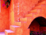 Hacienda Stair Detail Photographic Print by Douglas Steakley