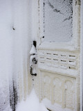 Snow Covered Door after Snow Storm Photographic Print by Denis Corriveau
