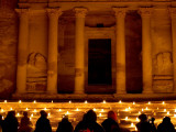 Treasury Lit Up by Hundreds of Lanterns During 'Petra at Night. Photographic Print by Brian Cruickshank