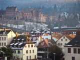 Heidelberg Castle and Houses Photographic Print by Richard l&#39;Anson