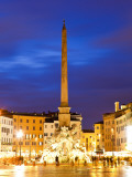 Fontana Del Quatro Fiumi (Fountain of Four Rivers) at Piazza Navona Photographic Print by Richard l&#39;Anson
