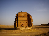 Qasr Farid Tomb of Ancient Nabatean Town Photographic Print by Aldo Pavan
