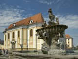 Triton Fountain and Regional Museum Photographic Print by Witold Skrypczak