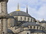 Domes and Minarets of Sultan Ahmet's Blue Mosque in Sultanahmet Photographic Print by Tim Makins