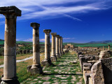 Decomanus Maximus Avenue in Roman City Ruins Photographic Print by Witold Skrypczak